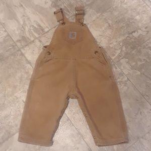 Children's Carhartt tan work pants 24 mos.